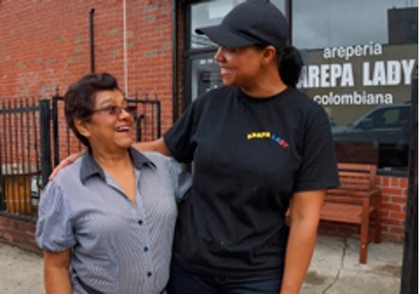 Arepa Lady, la franquicia colombiana que triunfa en Queens